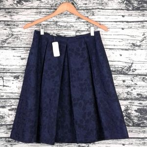 🆕Brooks Brothers navy floral pleated circle skirt
